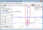 Main window of Graph showing how to use the evaluate feature